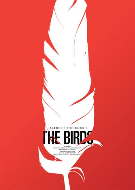 Sometimes The Best Use Of Color Is Keeping It Simple And Only Using One As In Movie Poster For Alfred Hitchcocks Birds