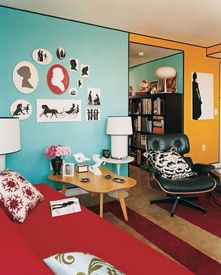 The Light Blue Red And Yellow In This Modern Room Successfully Accomplish Triadic Harmony